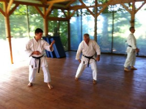 Rick and Zsolt work on technique.